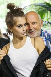 Kaia Gerber - Backstage at the Fendi show SS 2020 in Milan