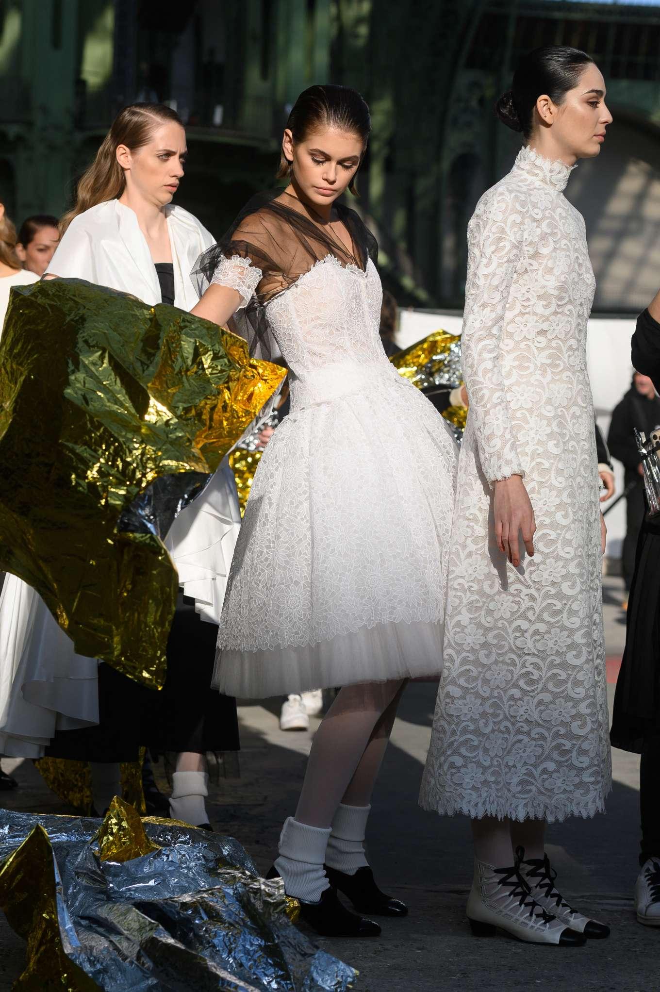 Kaia Gerber 2020 : Kaia Gerber – Chanel Haute Couture Backstage Show in Paris-04