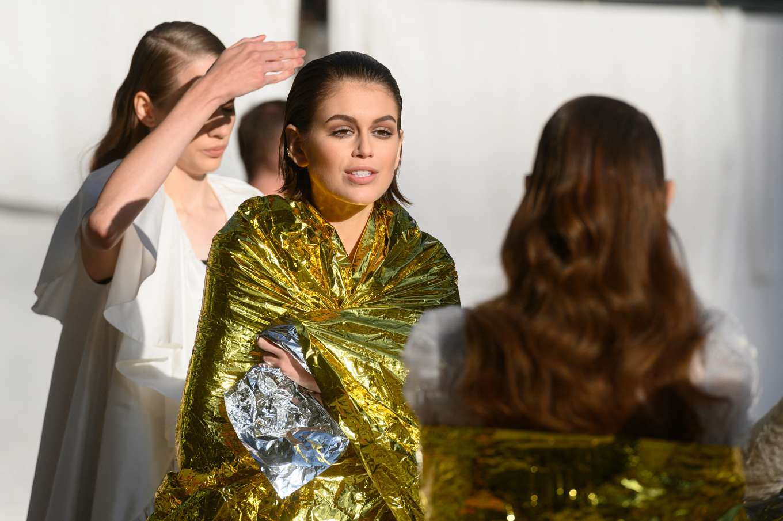 Kaia Gerber 2020 : Kaia Gerber – Chanel Haute Couture Backstage Show in Paris-33