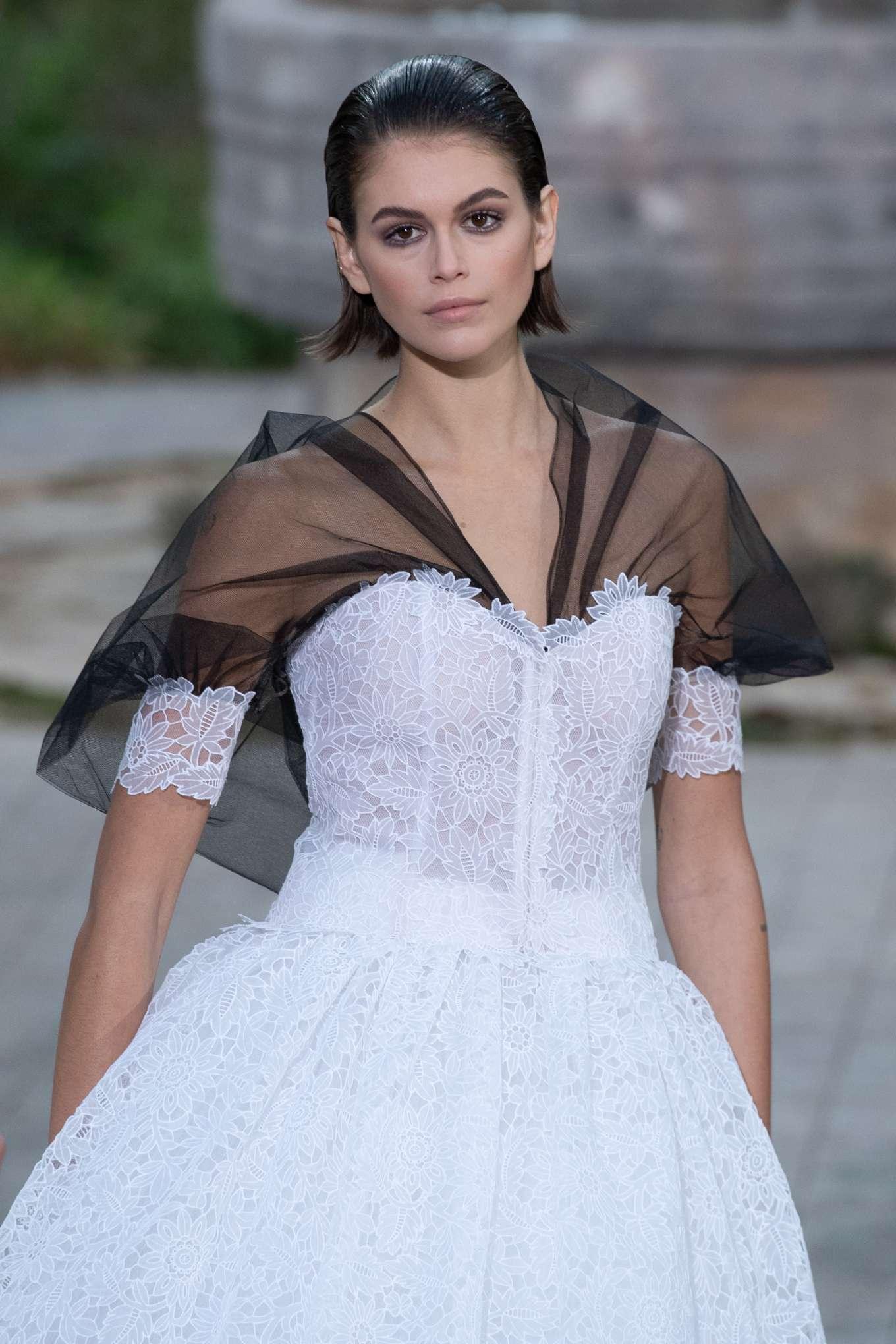 Kaia Gerber - Chanel Haute Couture Runway Show in Paris
