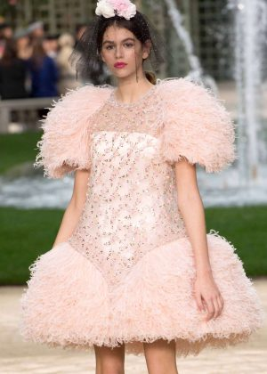 Kaia Gerber - Chanel Haute Couture Show Runway 2018 in Paris