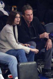Kaia Gerber - Chicago Bulls vs New York Knicks Game in NYC