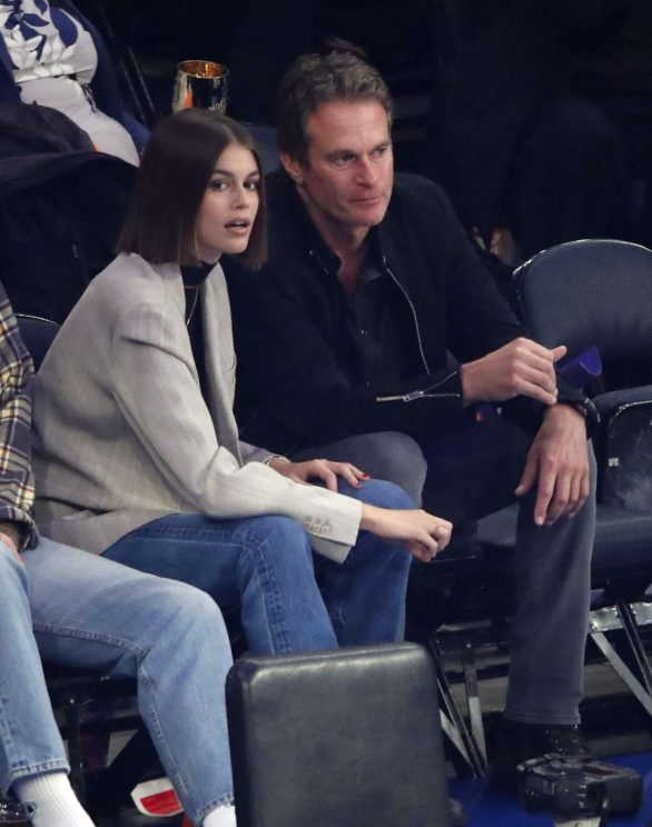 Kaia Gerber - Chicago Bulls vs New York Knicks Game in NYC
