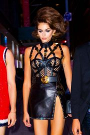 Kaia Gerber - Dressed like a Gladiator for her 18th birthday party in New York
