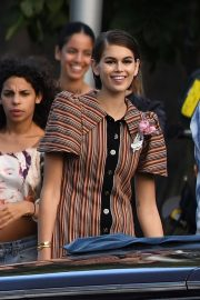Kaia Gerber - During a photoshoot in Miami