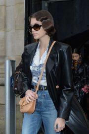 Kaia Gerber - exits the Chloe fashion show in Paris