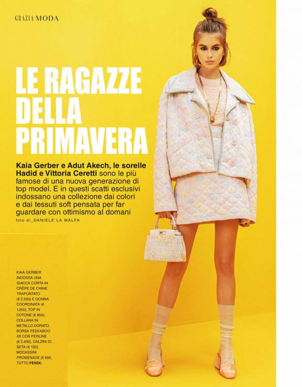 Kaia Gerber for Grazia Italy Magazine (April 2020)