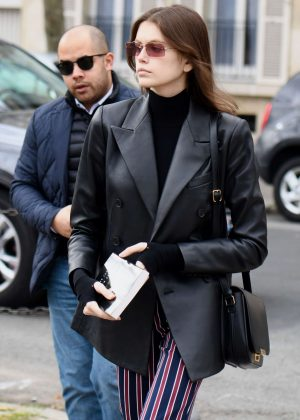 Kaia Gerber - Goes to Givenchy Fitting in Paris