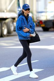 Kaia Gerber - Going back home after a workout in Soho