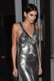 Kaia Gerber - Heads to Jimmy Choo x Kaia party in New York