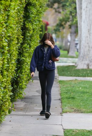 Kaia Gerber - In a yoga leggings seen after pilates in Los Angeles