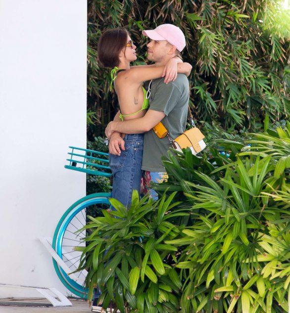 Kaia Gerber 2020 : Kaia Gerber in Bikini Top – Bike Riding in Miami-04