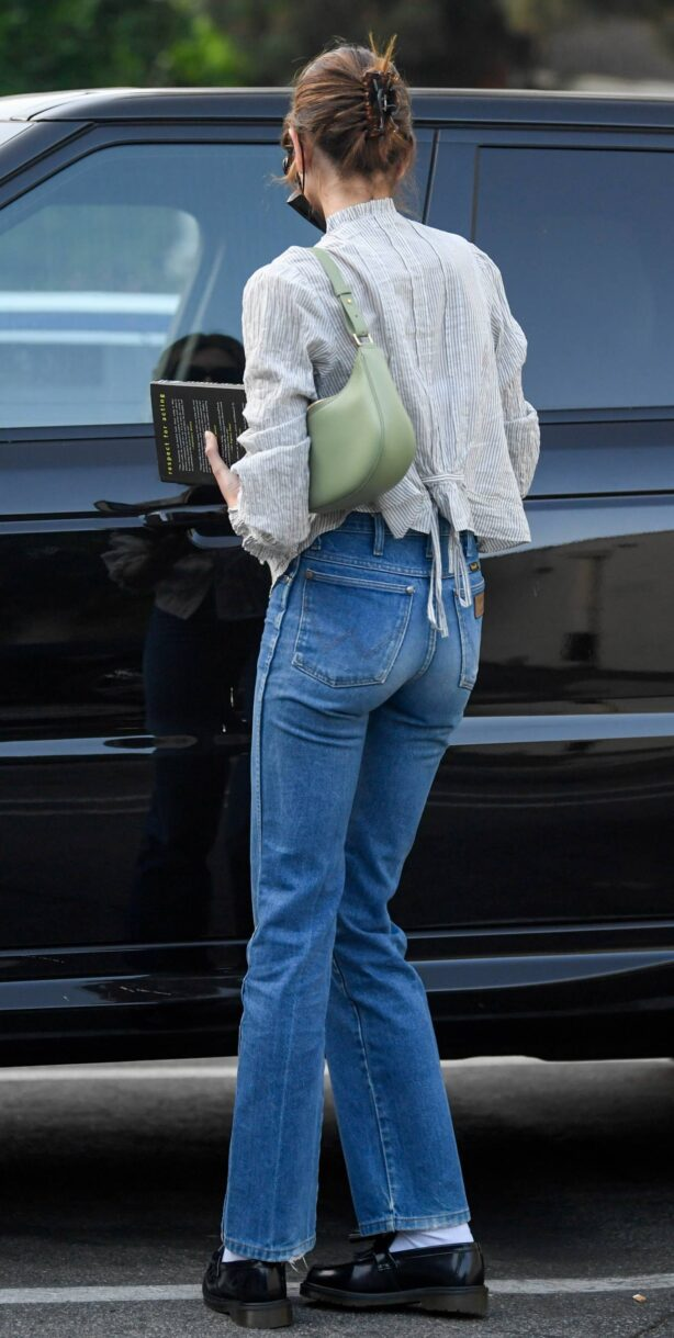 Kaia Gerber - In denim leaves a cafe in Hollywood
