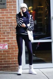 Kaia Gerber in Spandex - Out and about in NYC