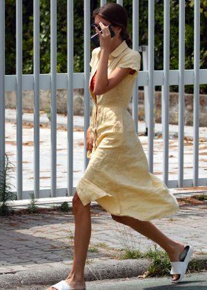 Kaia Gerber in Summer Dress - Out in Forte Dei Marmi