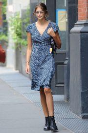 Kaia Gerber in Summer Dress - Out in Soho