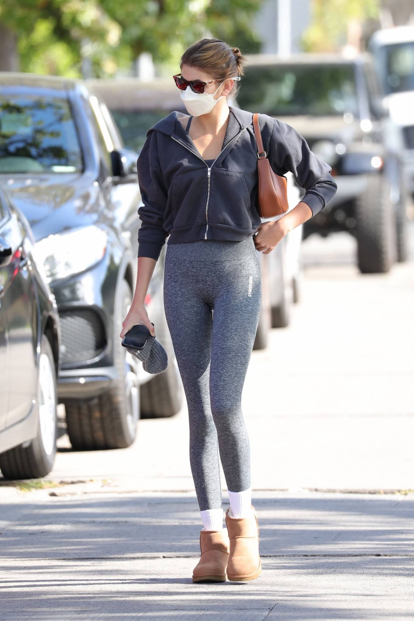 Kaia Gerber 2021 : Kaia Gerber – In workout outfit in West Hollywood-12