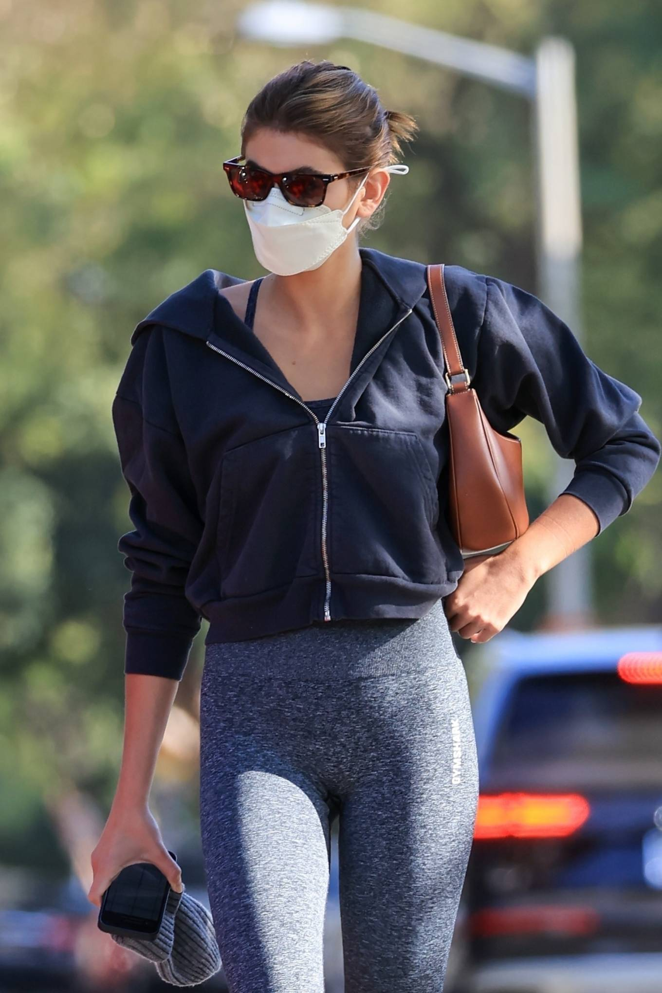 Kaia Gerber 2021 : Kaia Gerber – In workout outfit in West Hollywood-14