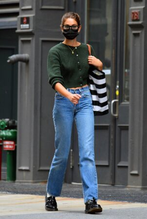 Kaia Gerber - Is pictured out and about in New York