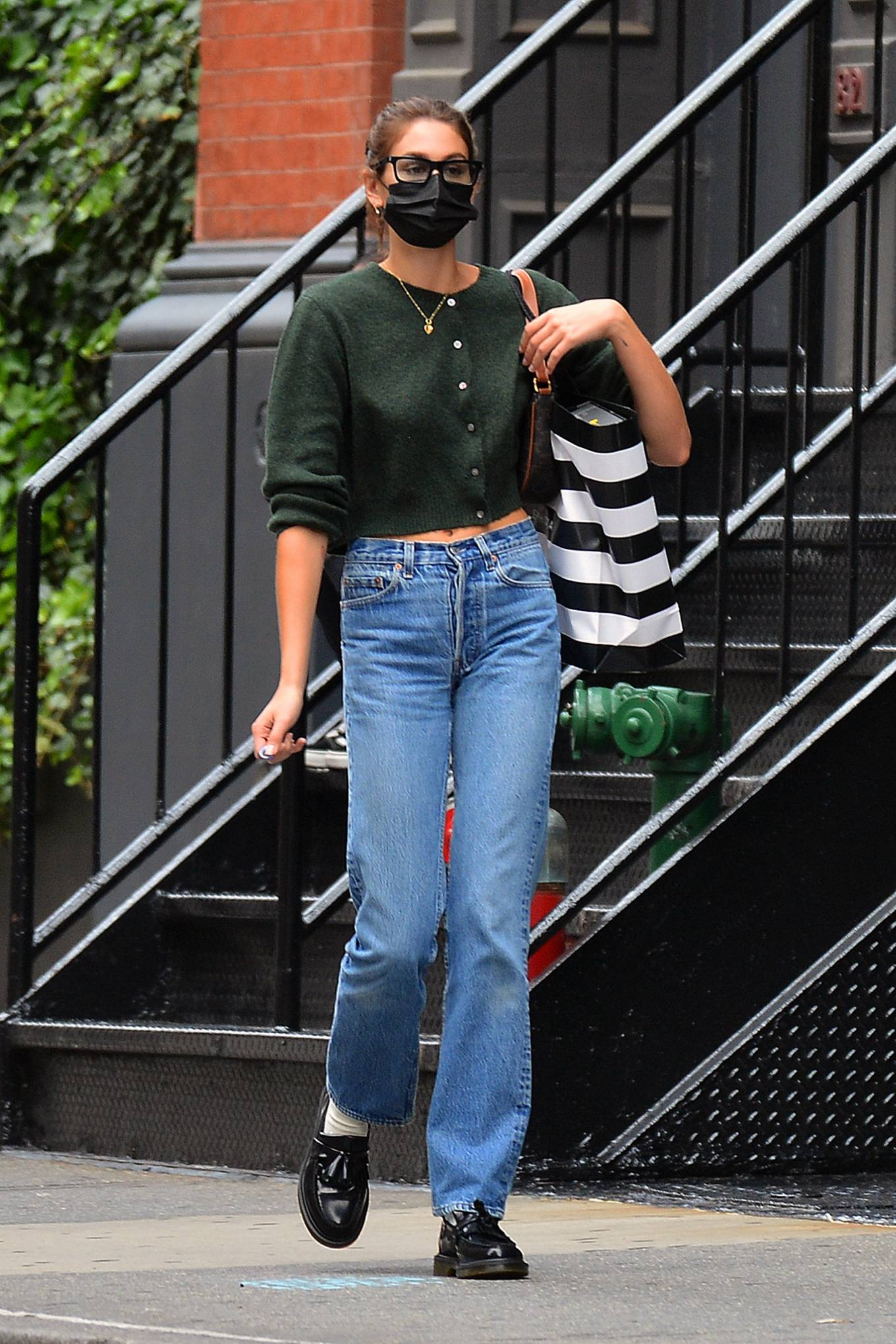 Kaia Gerber 2021 : Kaia Gerber – Is pictured out and about in New York-03