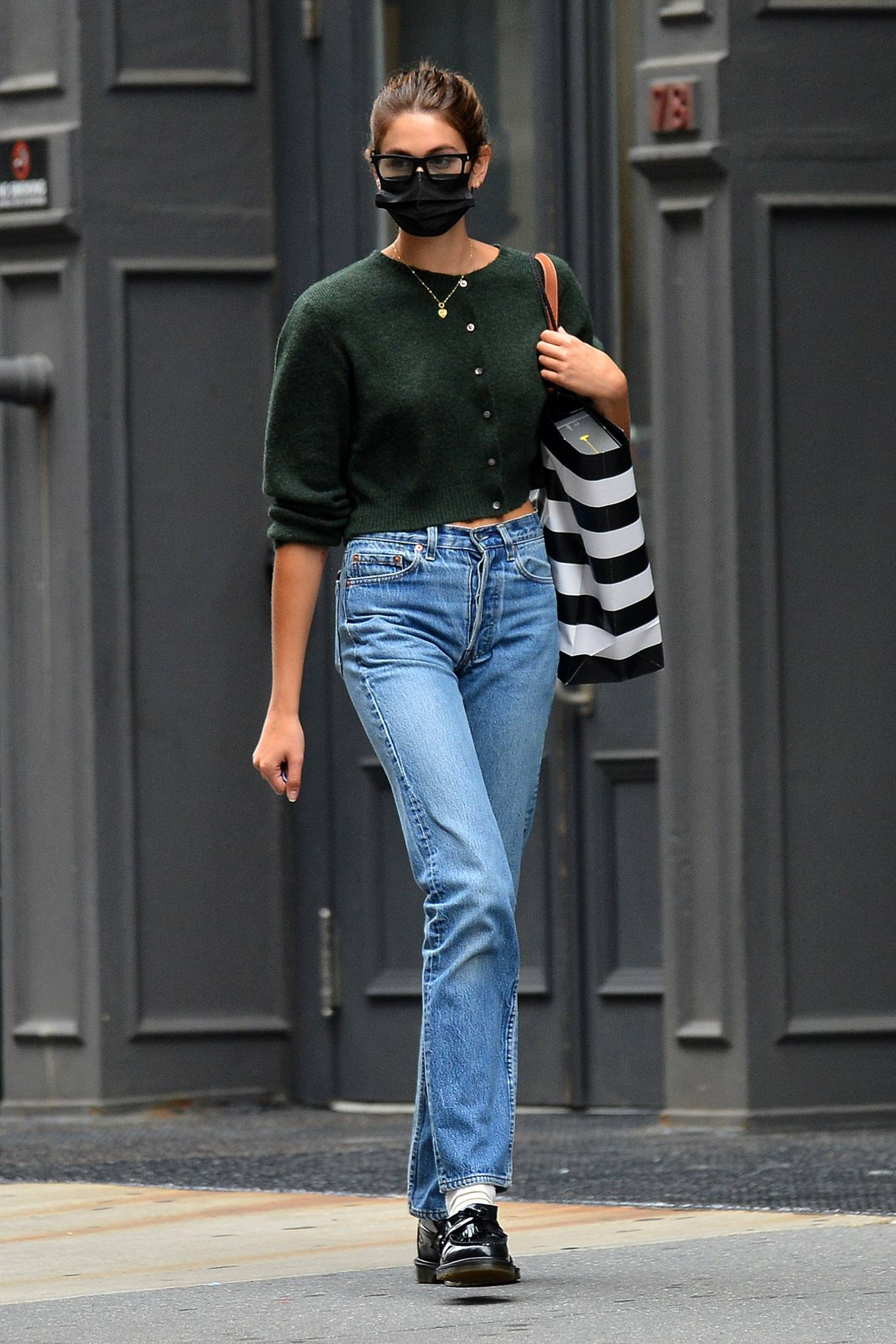 Kaia Gerber 2021 : Kaia Gerber – Is pictured out and about in New York-04