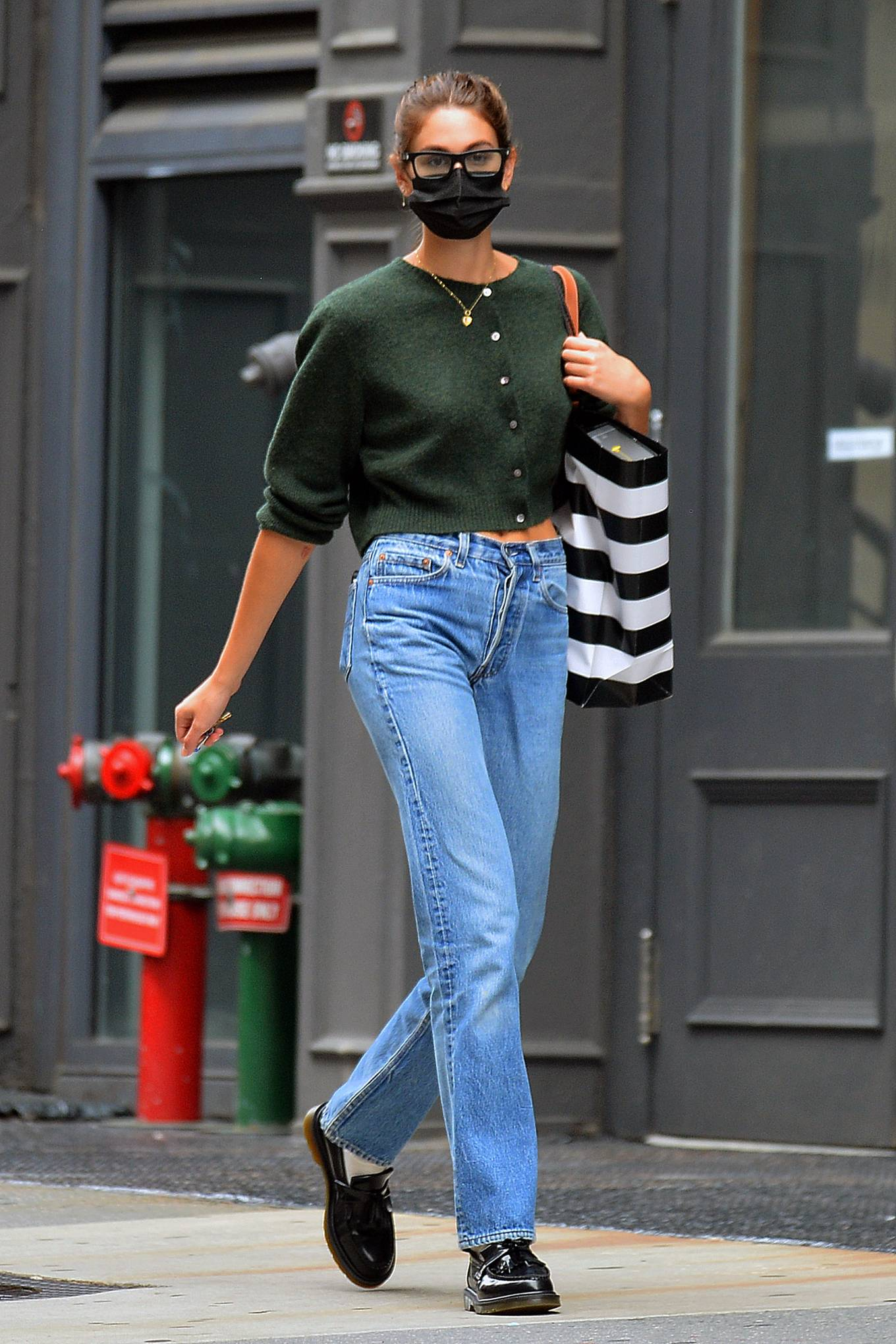 Kaia Gerber 2021 : Kaia Gerber – Is pictured out and about in New York-05
