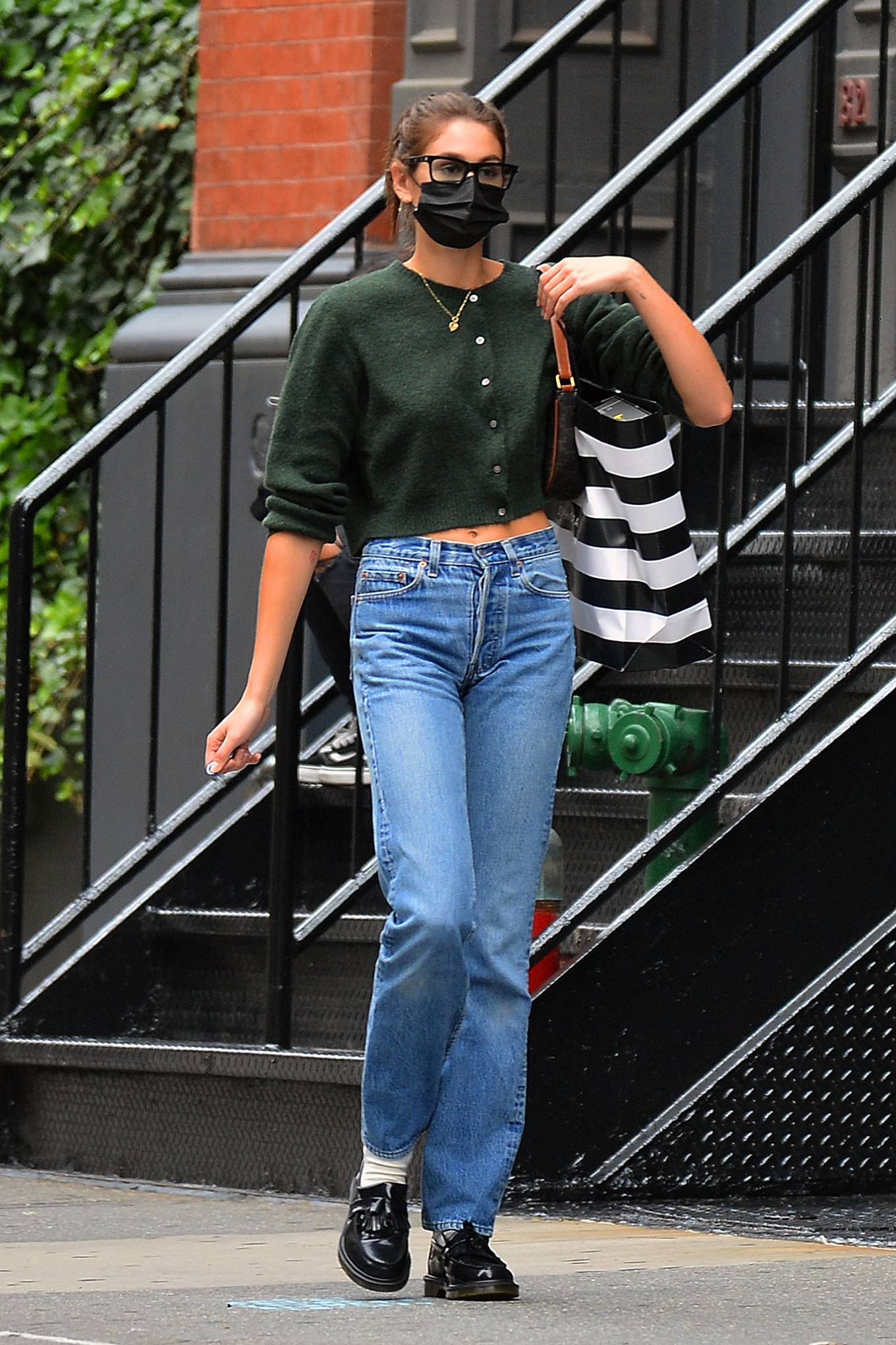 Kaia Gerber 2021 : Kaia Gerber – Is pictured out and about in New York-06