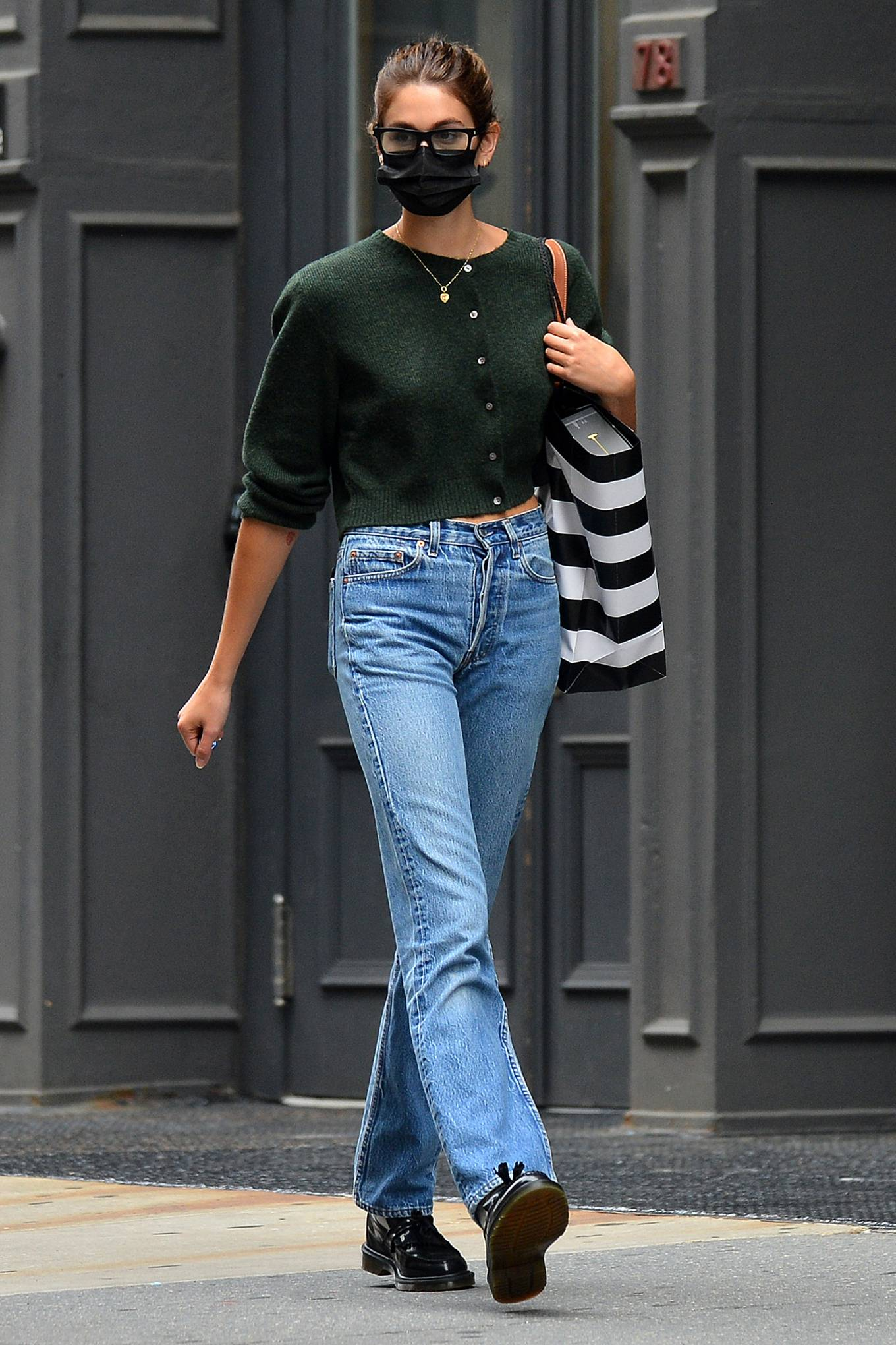 Kaia Gerber 2021 : Kaia Gerber – Is pictured out and about in New York-07