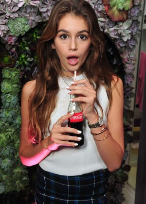 Kaia Gerber - Launch Party for WILDFOX Loves Coca-Cola Capsule Collection in West Hollywood