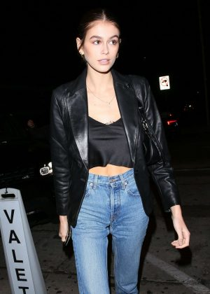 Kaia Gerber - Leaving Craig's in West Hollywood