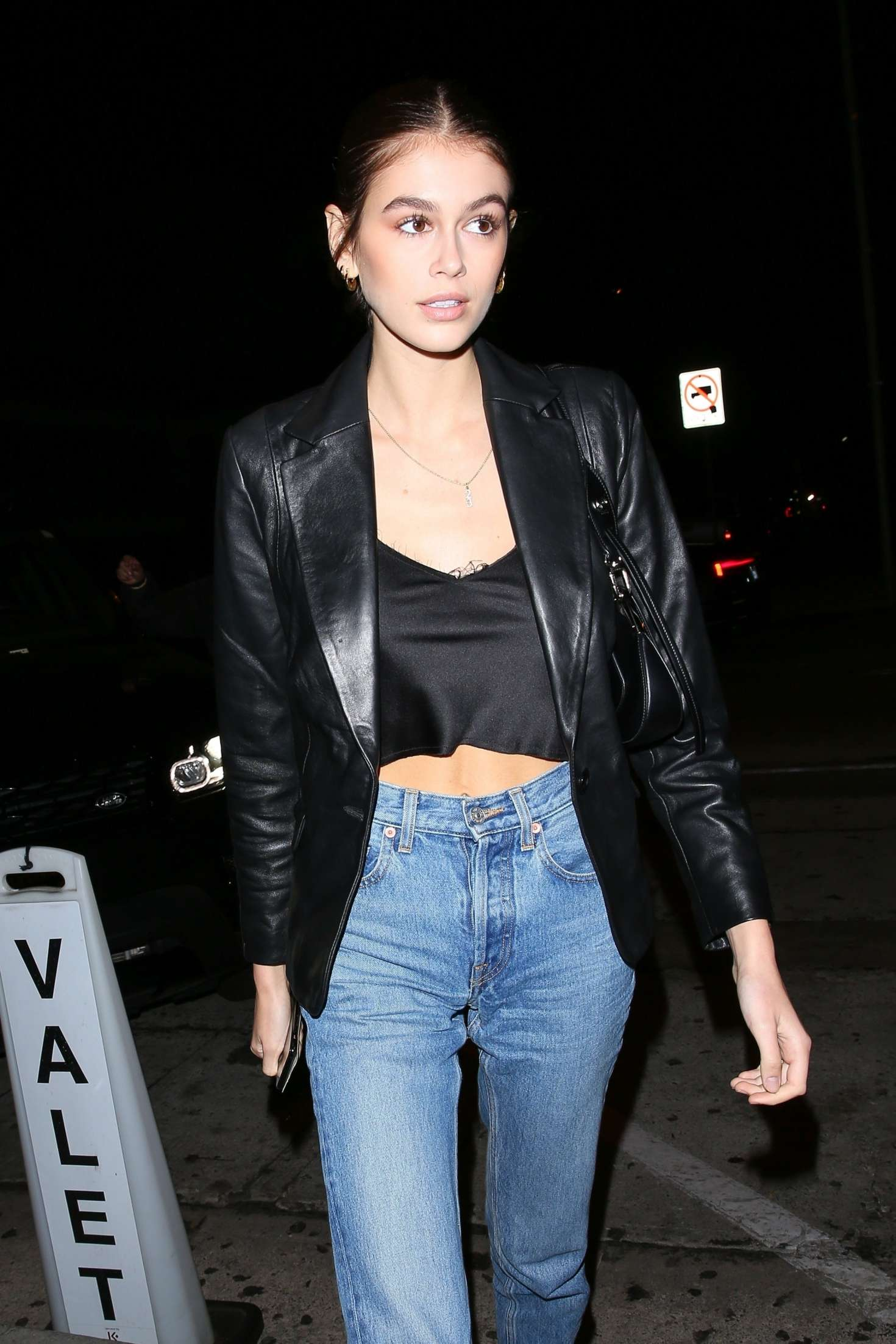 Kaia Gerber – Leaving Craig's in West Hollywood