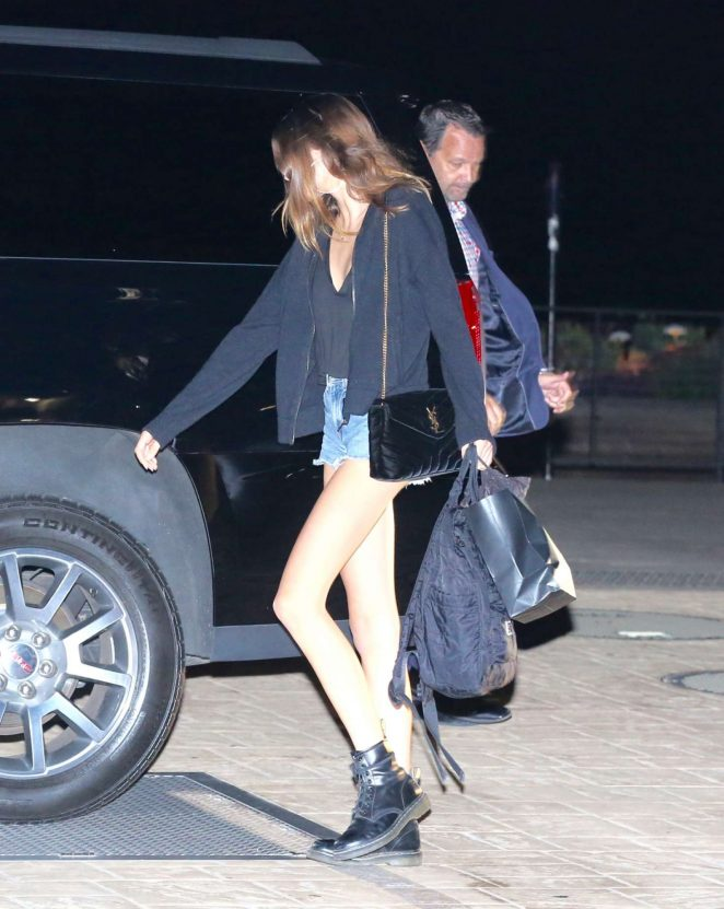 Kaia Gerber Leaving Nobu in Malibu