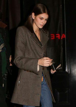 Kaia Gerber - Leaving the Mercer hotel in New York