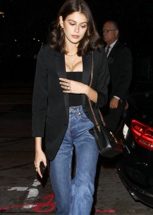 Kaia Gerber - Leaving The Peppermint Club in West Hollywood