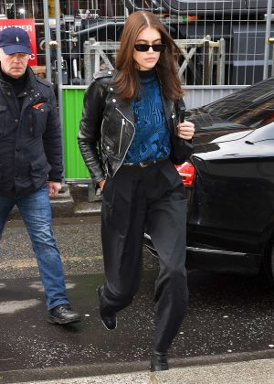 Kaia Gerber - Leaving the Royal Monceau Hotel in Paris