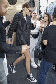 Kaia Gerber - Leaving Valentino Show in Paris