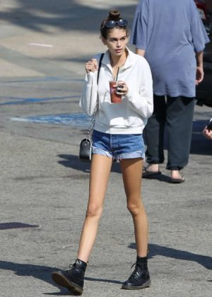 Kaia Gerber - Leggy Out in Malibu