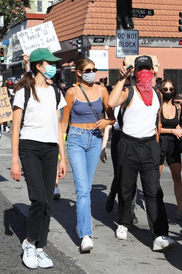 Kaia Gerber, Margaret Qualley, Eiza Gonzalez and Madelaine Petsch - Black Lives Matter protest in LA