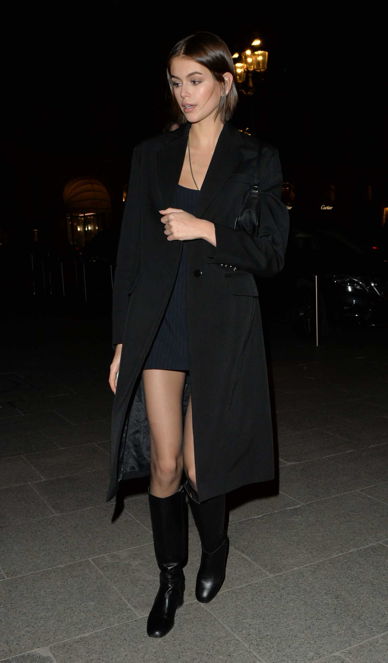 Kaia Gerber - Night out in Paris