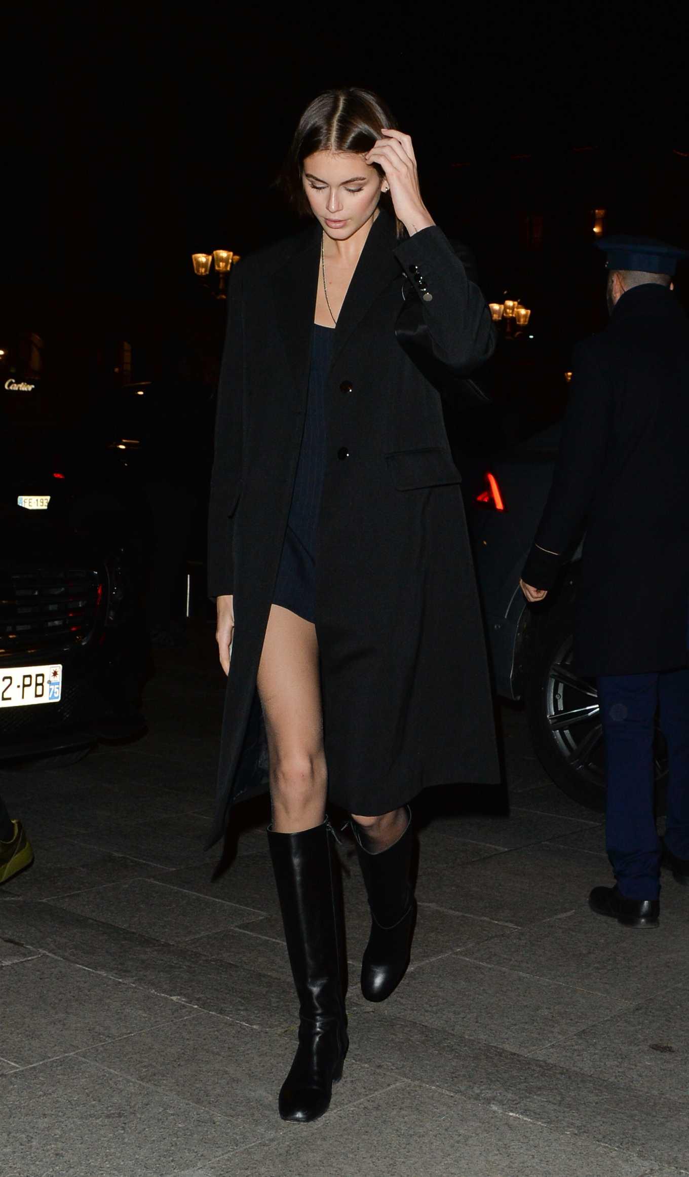 Kaia Gerber 2020 : Kaia Gerber – Night out in Paris-15