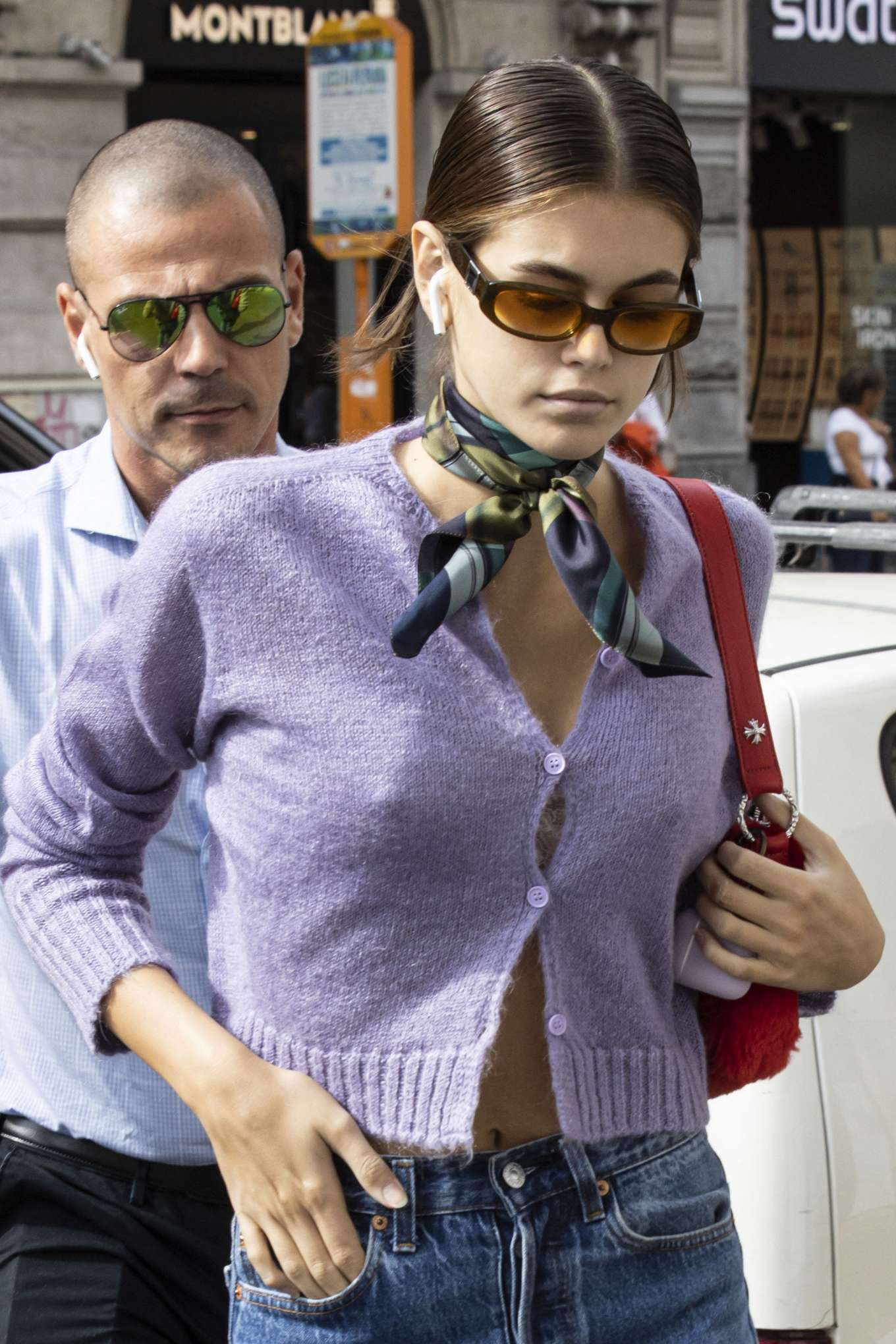 Kaia Gerber - Out during Milan Fashion Week