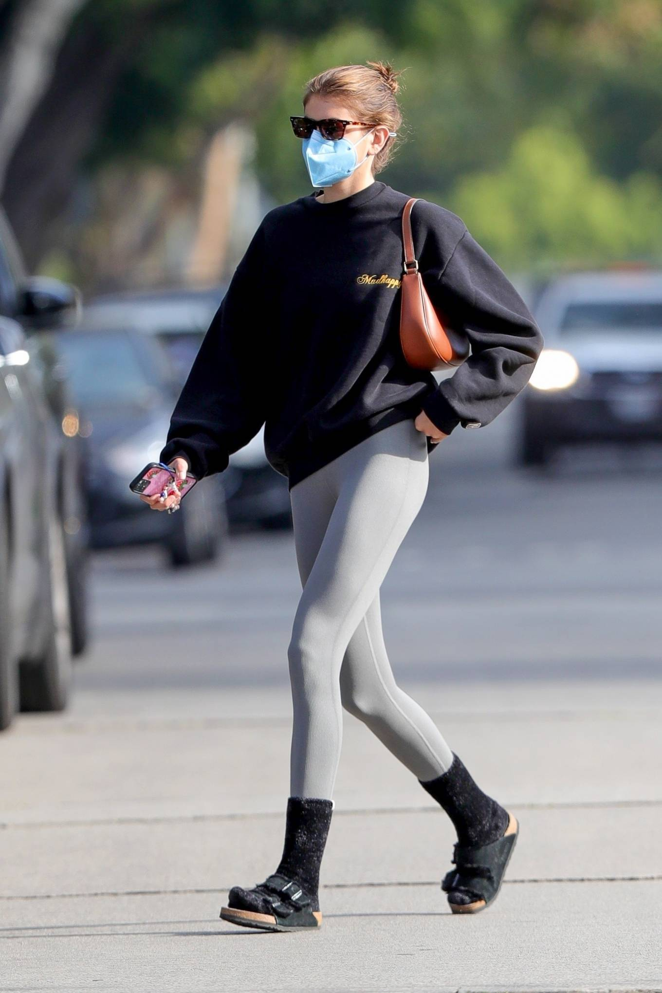 Kaia Gerber 2021 : Kaia Gerber – Out for a pilates class in West Hollywood-03