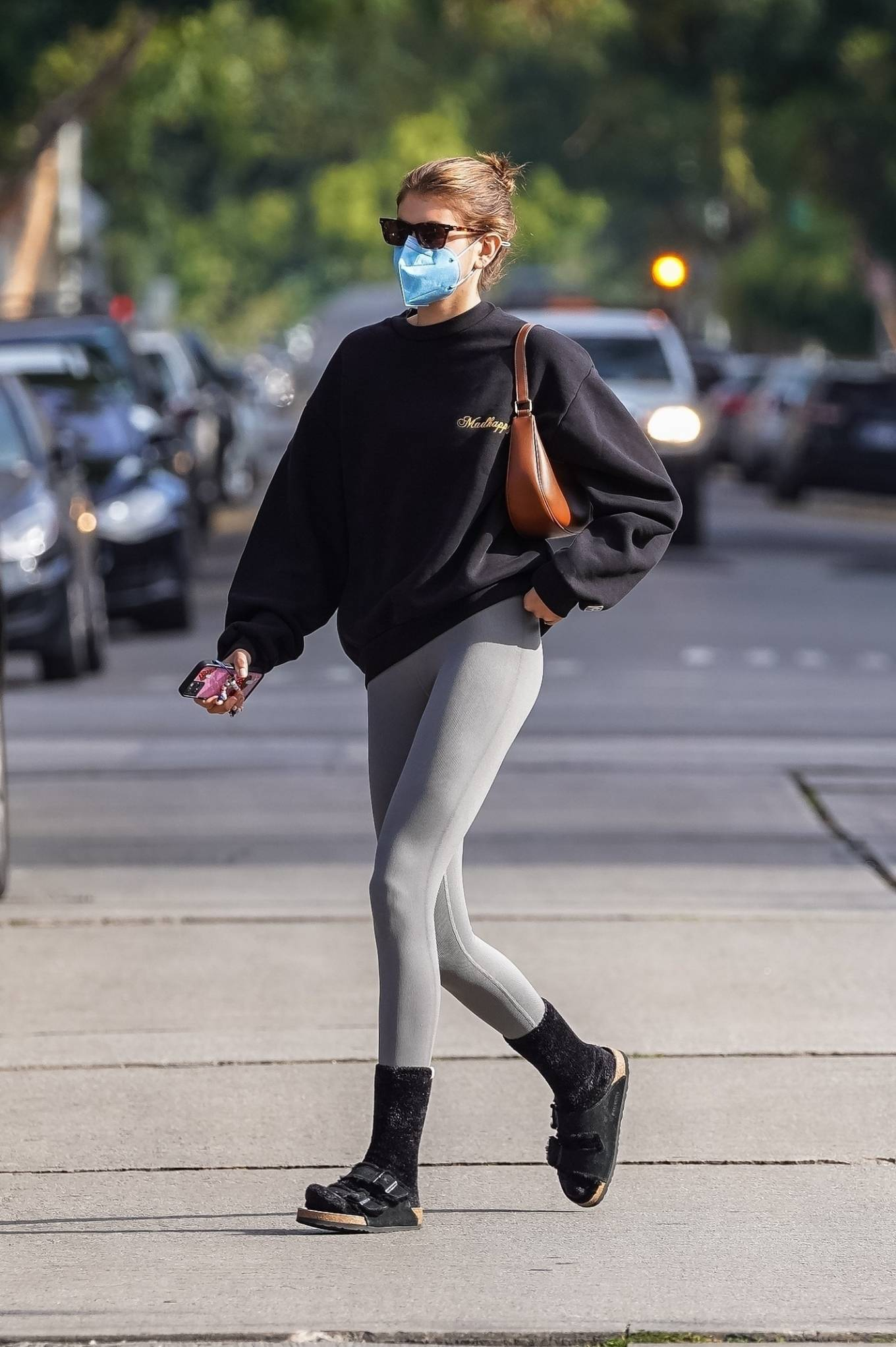 Kaia Gerber 2021 : Kaia Gerber – Out for a pilates class in West Hollywood-04