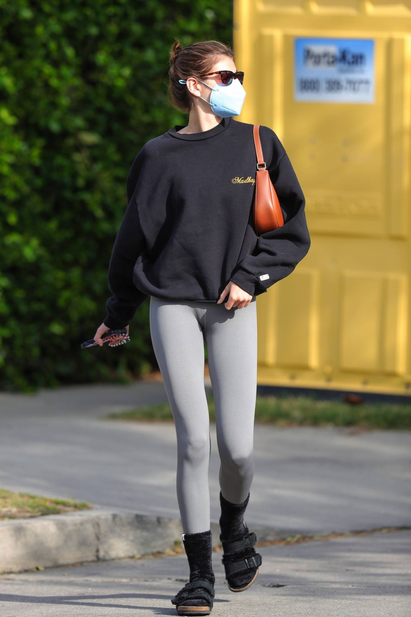 Kaia Gerber 2021 : Kaia Gerber – Out for a pilates class in West Hollywood-08