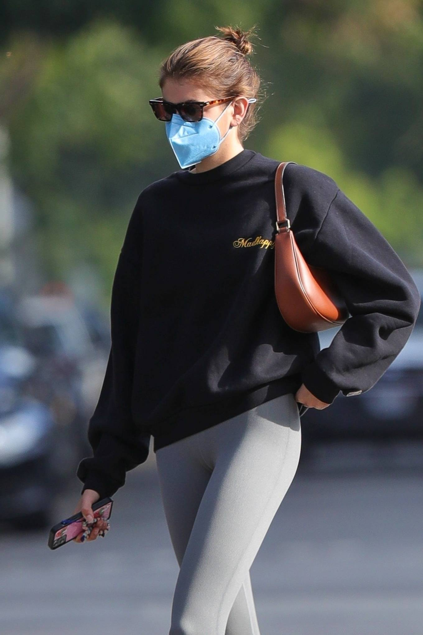 Kaia Gerber 2021 : Kaia Gerber – Out for a pilates class in West Hollywood-10
