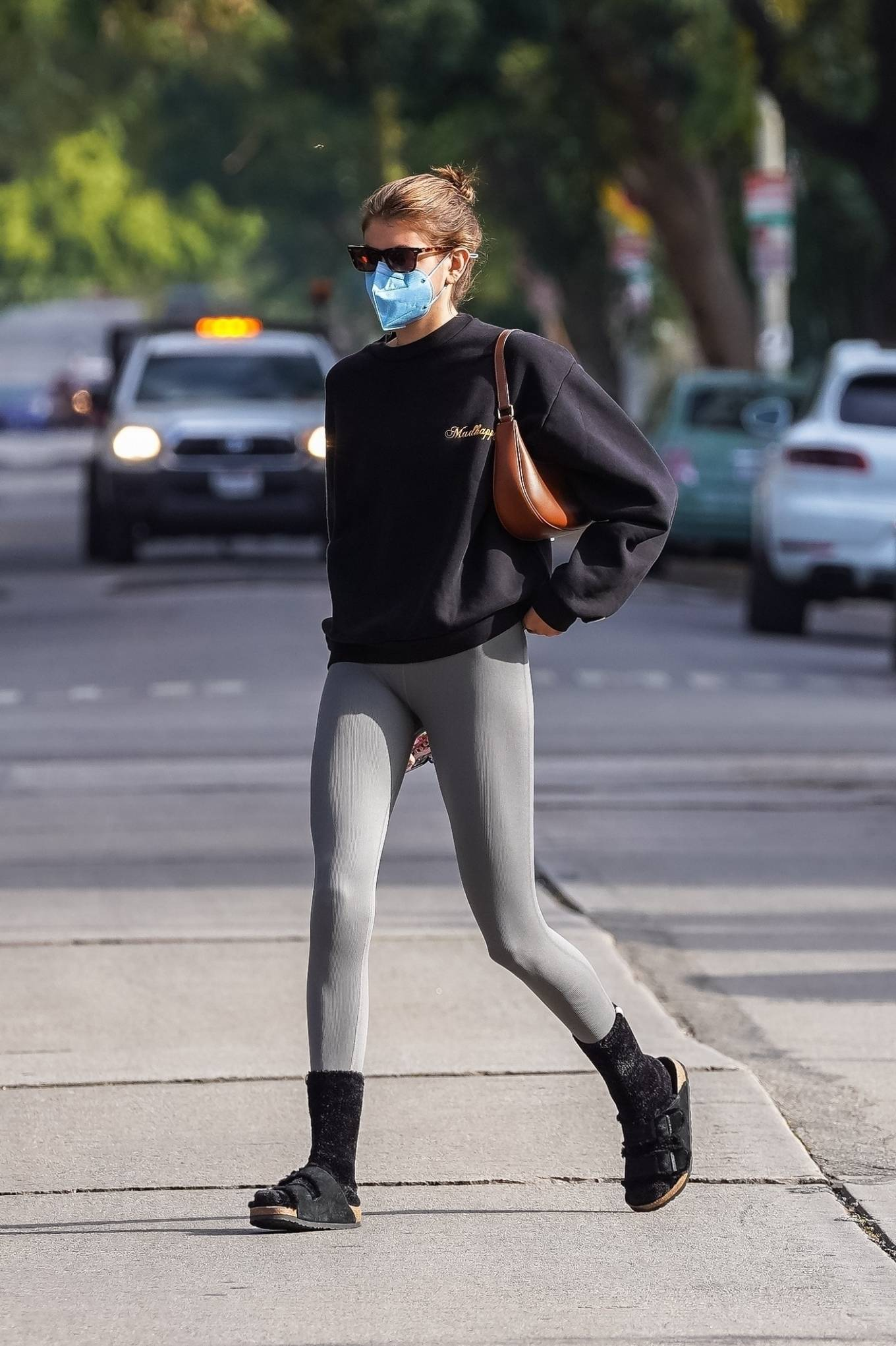 Kaia Gerber 2021 : Kaia Gerber – Out for a pilates class in West Hollywood-21