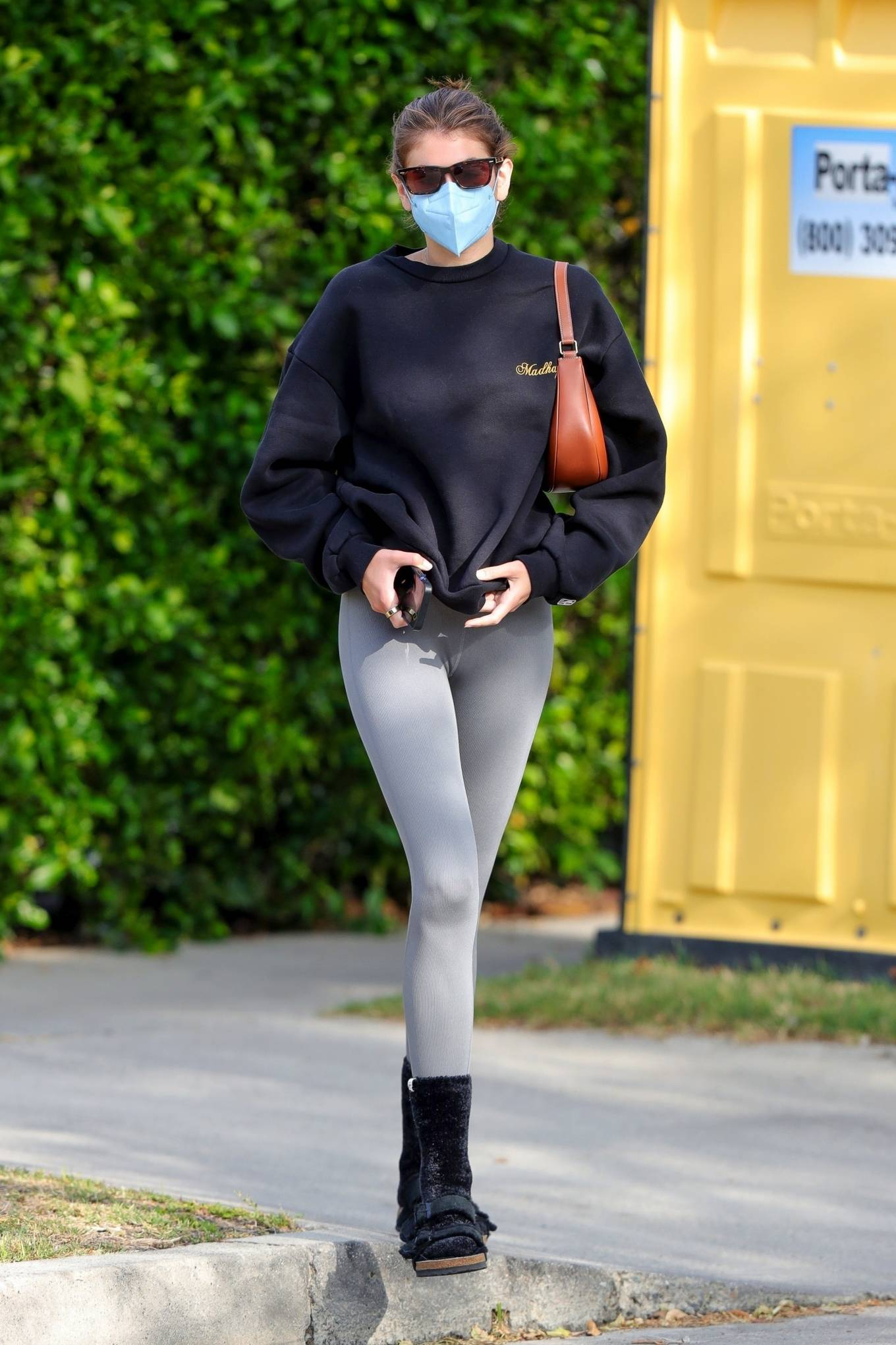Kaia Gerber 2021 : Kaia Gerber – Out for a pilates class in West Hollywood-30