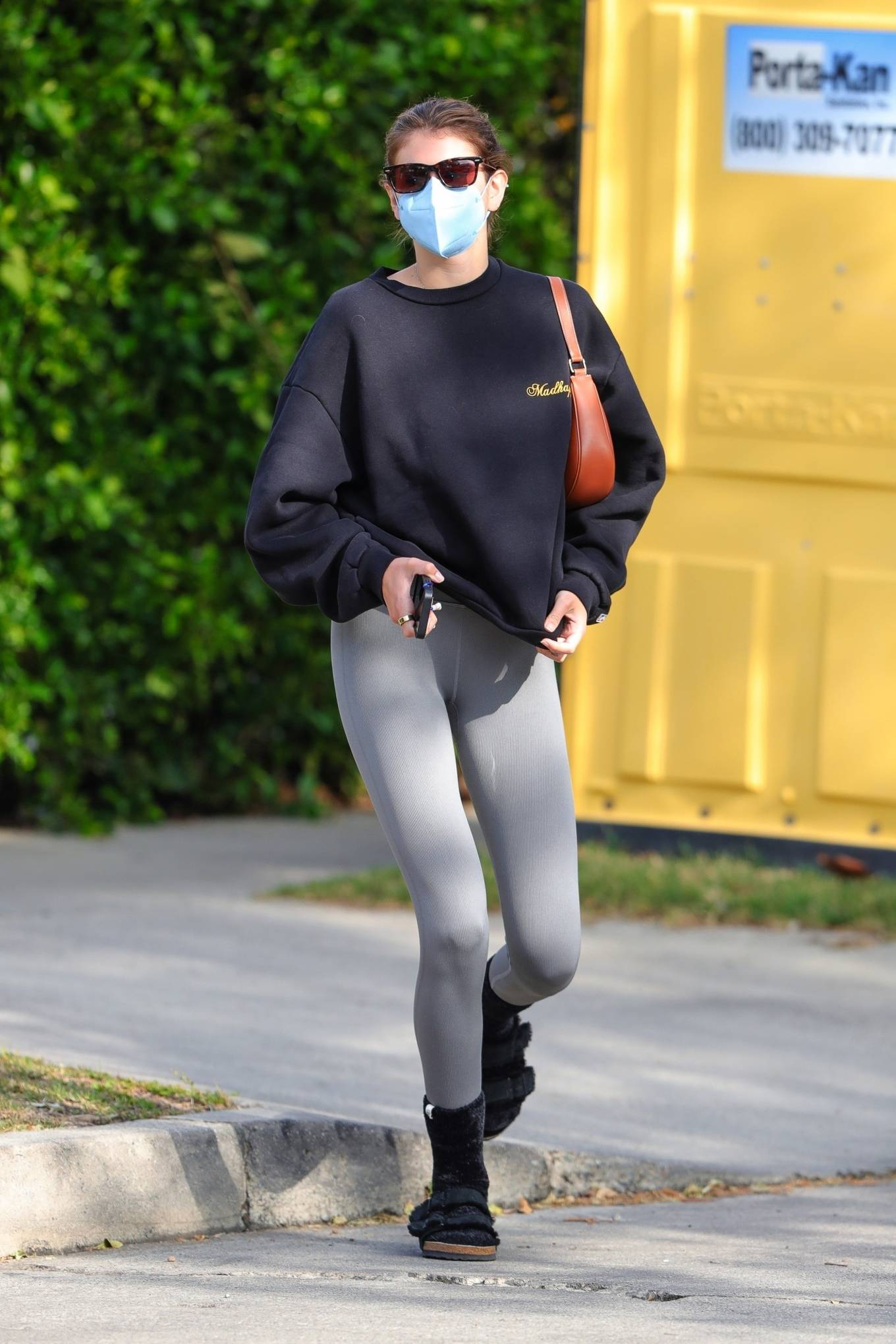 Kaia Gerber 2021 : Kaia Gerber – Out for a pilates class in West Hollywood-38