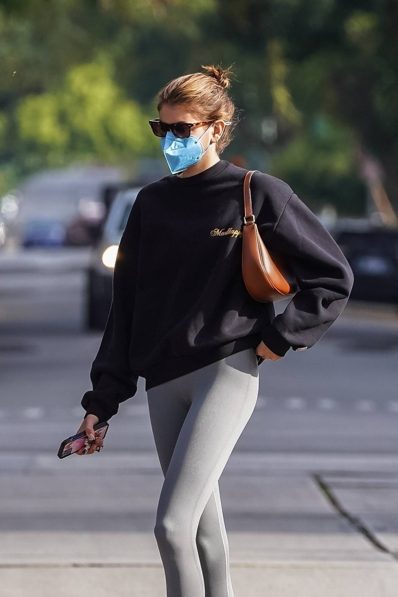 Kaia Gerber 2021 : Kaia Gerber – Out for a pilates class in West Hollywood-45