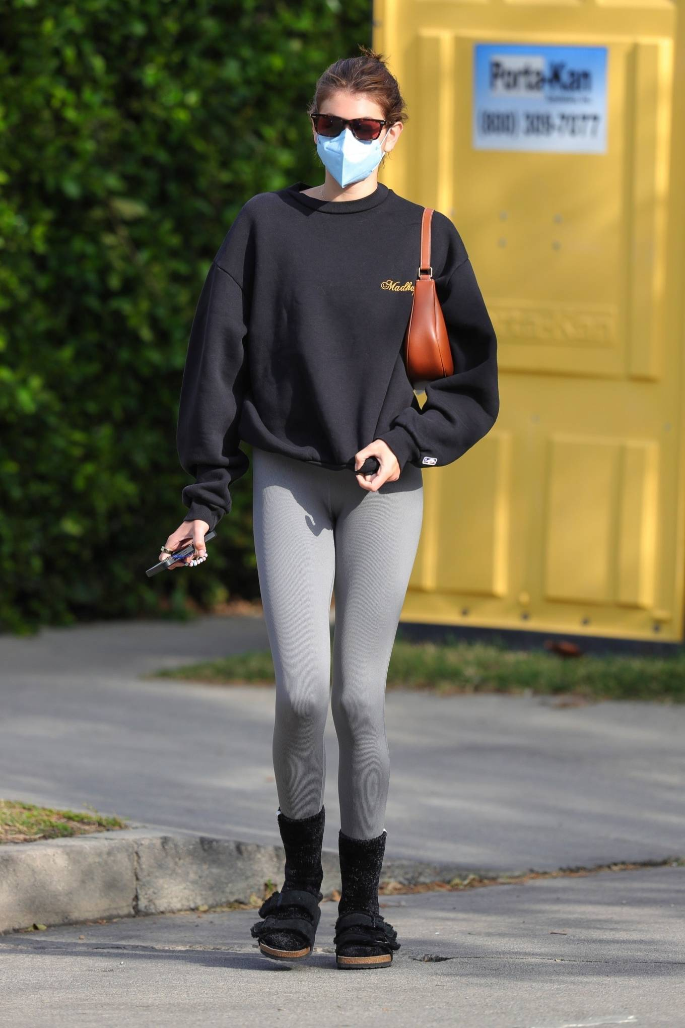 Kaia Gerber 2021 : Kaia Gerber – Out for a pilates class in West Hollywood-46